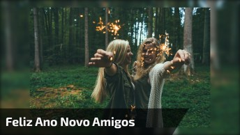 Vídeo Com Mensagem De Feliz Ano Novo Para Amigos! Desejo A Todos Muita Paz!