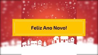 Vídeo Com Mensagem De Feliz Ano Novo Para Compartilhar No Facebook!
