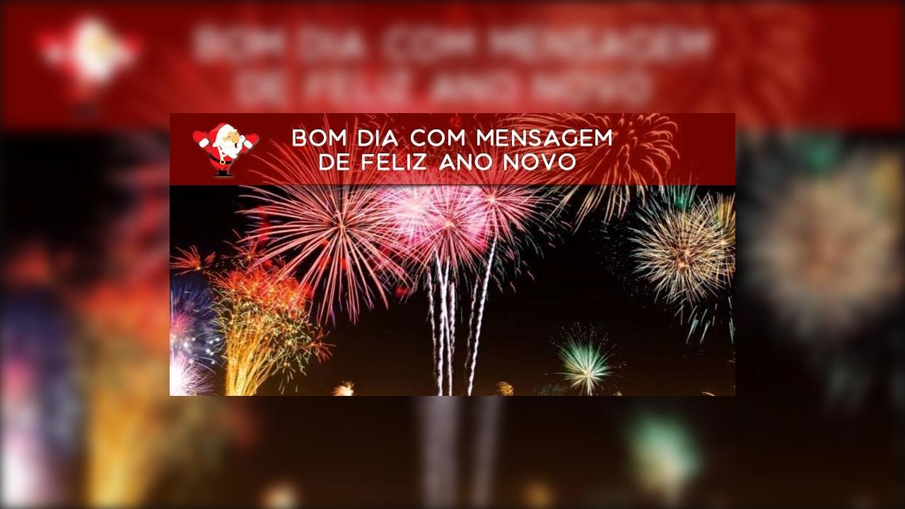 Vídeo de Bom Dia com mensagem de Feliz Ano Novo a amigos especiais!!!