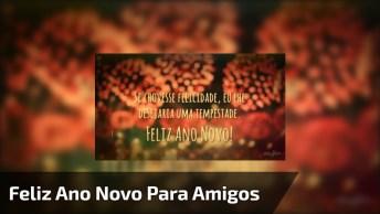 Vídeo De Mensagem De Feliz Ano Novo Para Amigo Ou Amiga Especial!