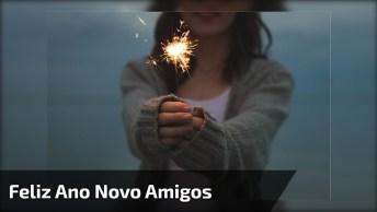 Vídeo De Mensagem De Feliz Ano Novo Para Amigos! Tenham Todos Ótimas Festas!