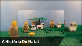 A História Do Natal Contada Por Uma Criança E Ilustrada Com Legos!