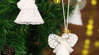 Anjo De Papel Para Enfeitar Sua Árvore De Natal, Aprenda Como Fazer!