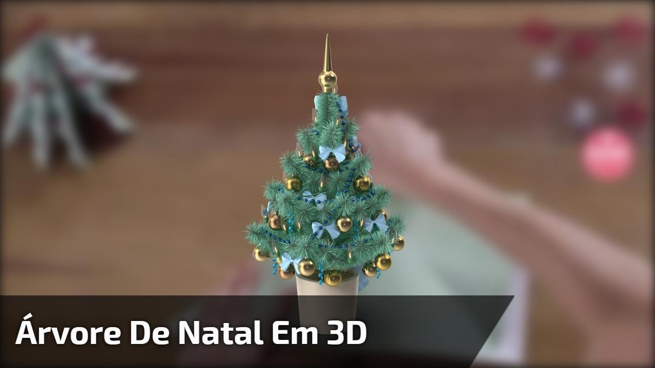 Árvore de Natal em 3D