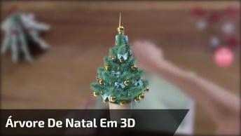 Aprenda A Fazer Uma Árvore De Natal Em 3D, Utilizando Apenas Papel!