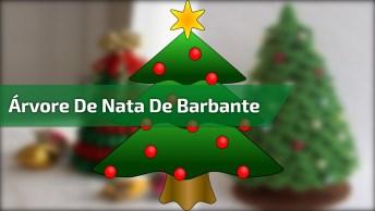 Aprenda Fazer Você Mesmo Essa Linda Árvore De Natal Usando Barbante!