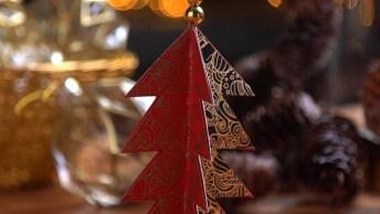 Árvore De Natal Improvisada Com Grande Estilo, Confira Que Fácil!