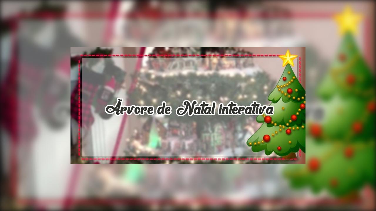 Árvore de Natal interativa, veja que ideia incrível para enfeitar a sua casa!