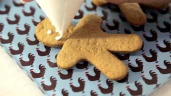 Biscoitos Para O Natal, Feito Com Gingerbreads E Outras Coisas Simples!