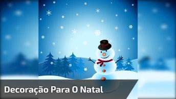 Boneco De Neve Feito Com Barbante E Bexiga, Para Alegrar O Seu Natal!
