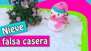 Como Fazer Neve Falsa Caseira Para Enfeitar Sua Casa No Natal!