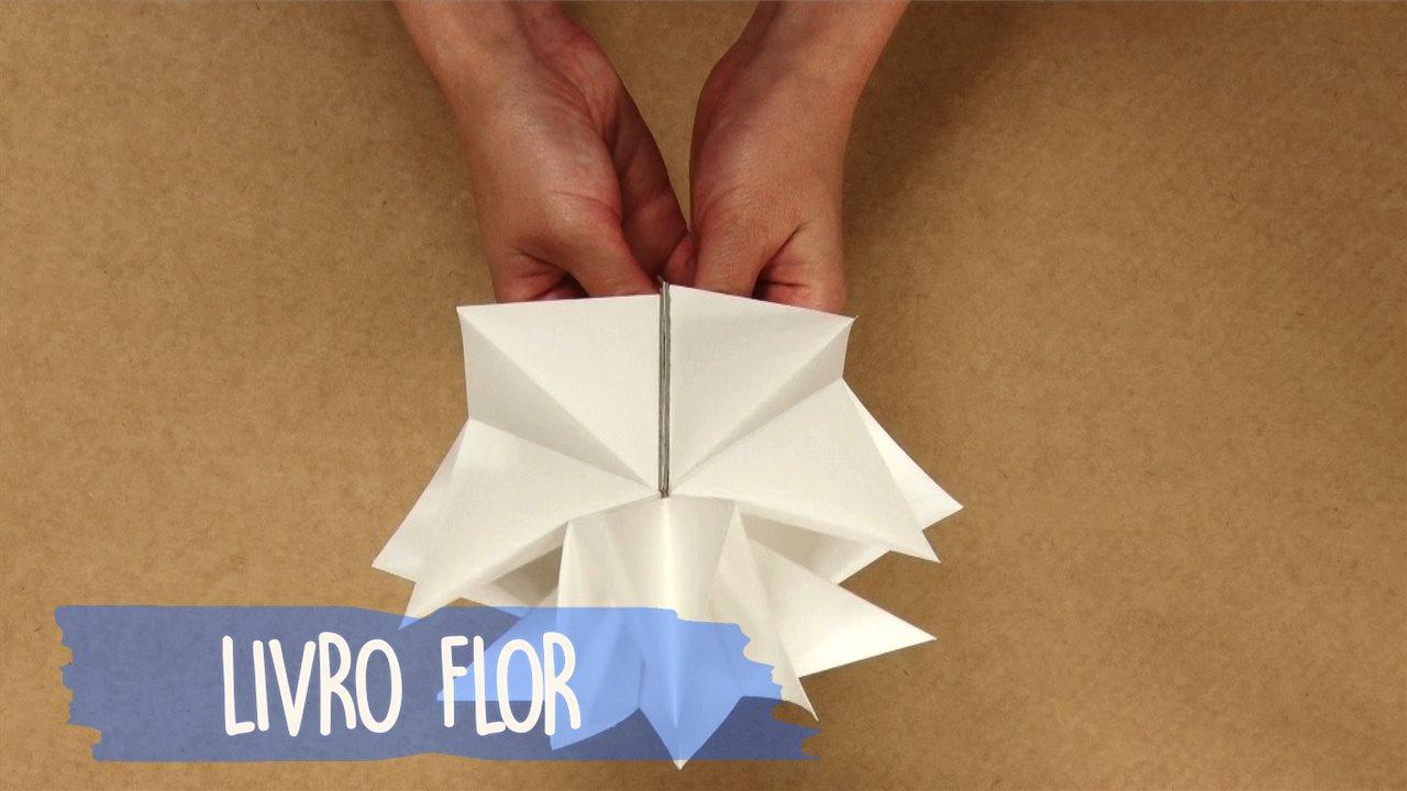 Como fazer um livro flor para presentear alguém no Natal, muito fofo!