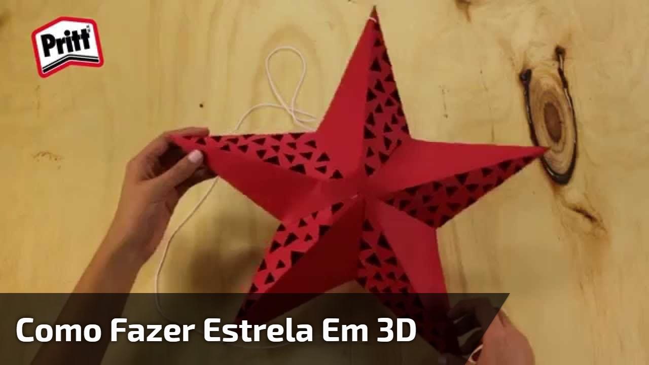 Como fazer estrela em 3D