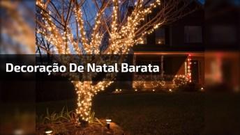 Dicas De Decoração De Natal Simples E Barata - Gastando Bem Pouco!