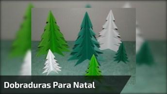 Dobraduras Em Papel Para Enfeites De Natal, Uma Ideia Incrível!