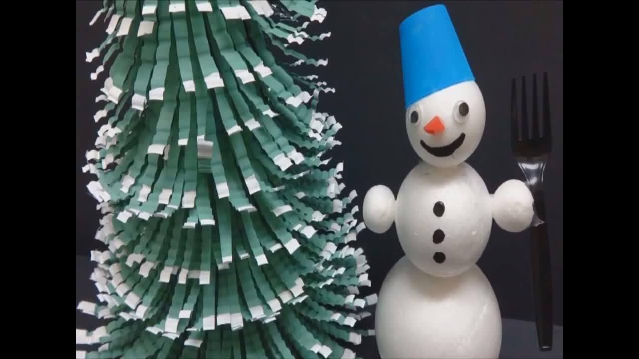 Enfeite de Natal com garrafa Pet, um lindo trabalho feito a mão!