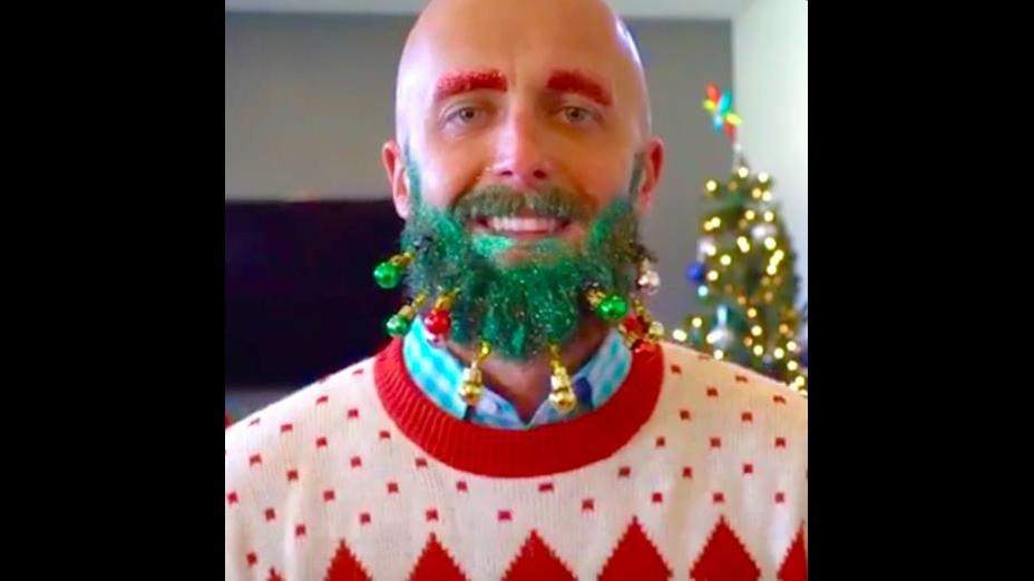 Enfeite de natal para barba vai chamar a atenção nesse Natal