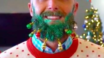 Enfeite De Natal Para Barba Vai Chamar A Atenção Nesse Natal!