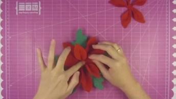 Flores Feita De Eva Para Decoração Natalina, Deixe Seu Natal Mais Bonito!