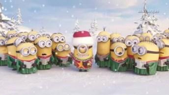 Lindinha Mensagem De Feliz Natal Com Essas Criaturinhas Fofas Os Minions!