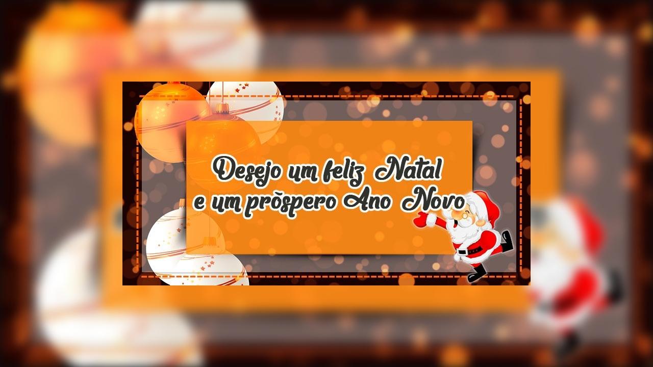 Mensagem de Feliz Natal aos amigos e amigas