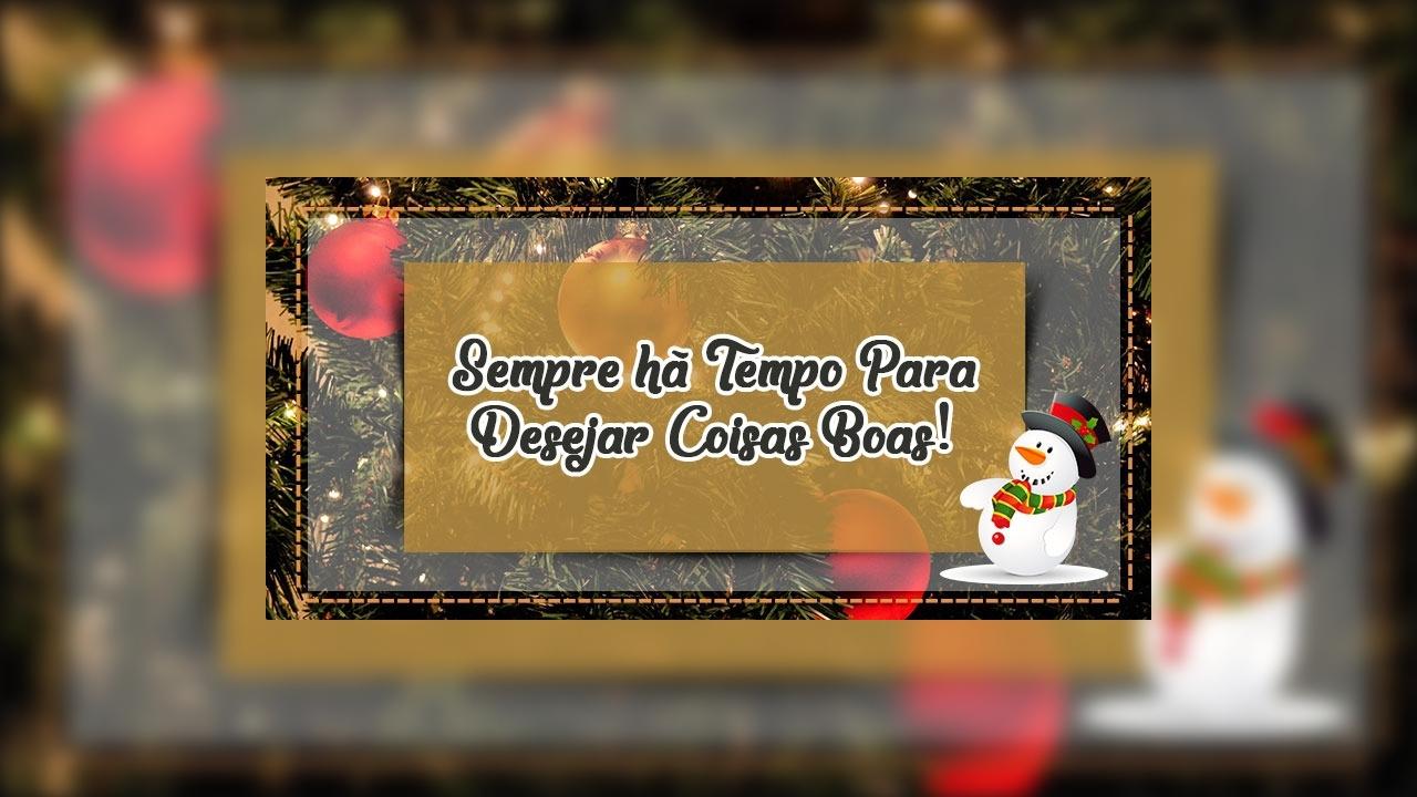 Mensagem de feliz natal atrasado