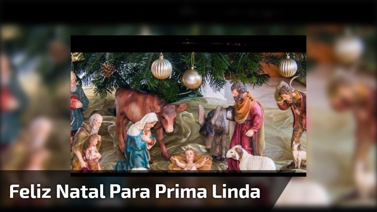 Feliz Natal para prima linda