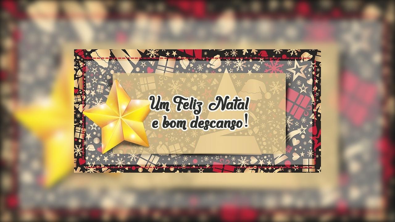 Mensagem de final de semana de Natal!