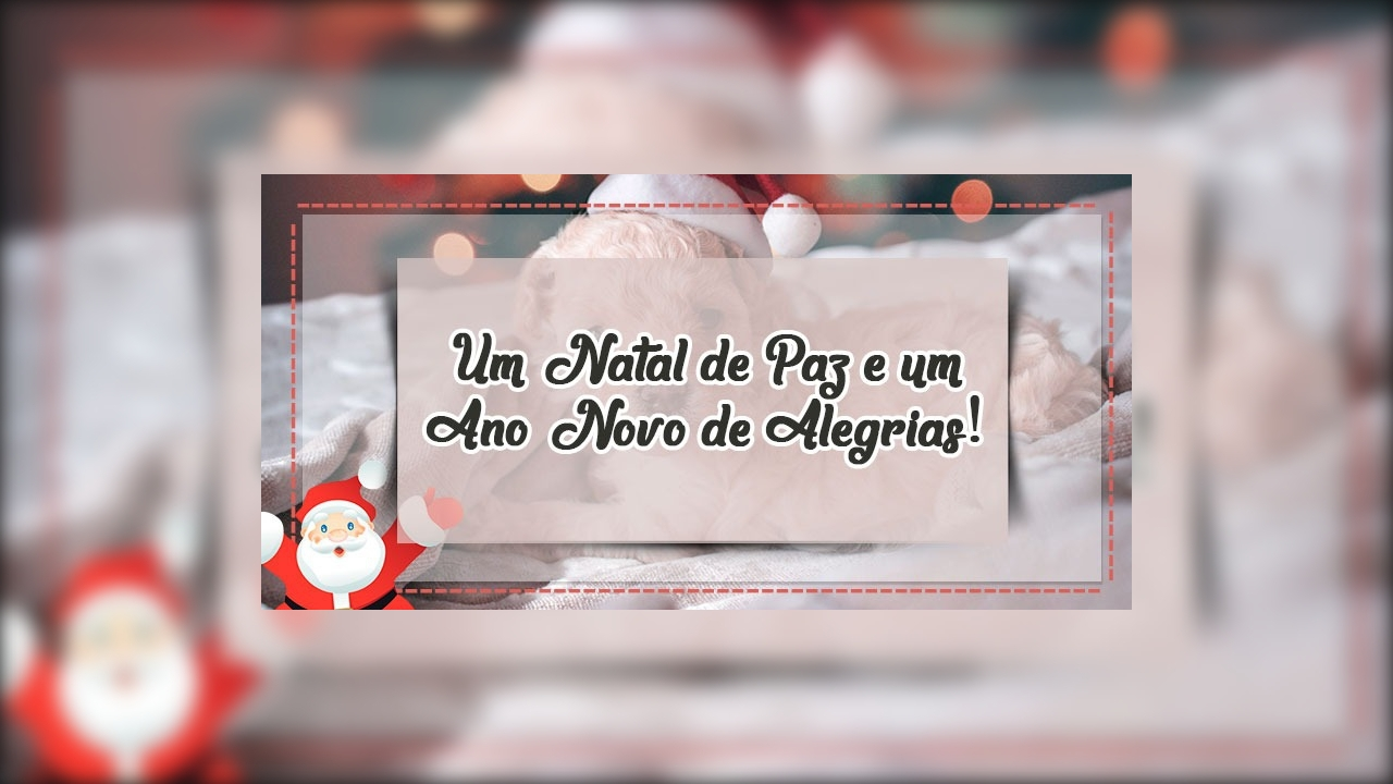 Mensagem de natal bem linda