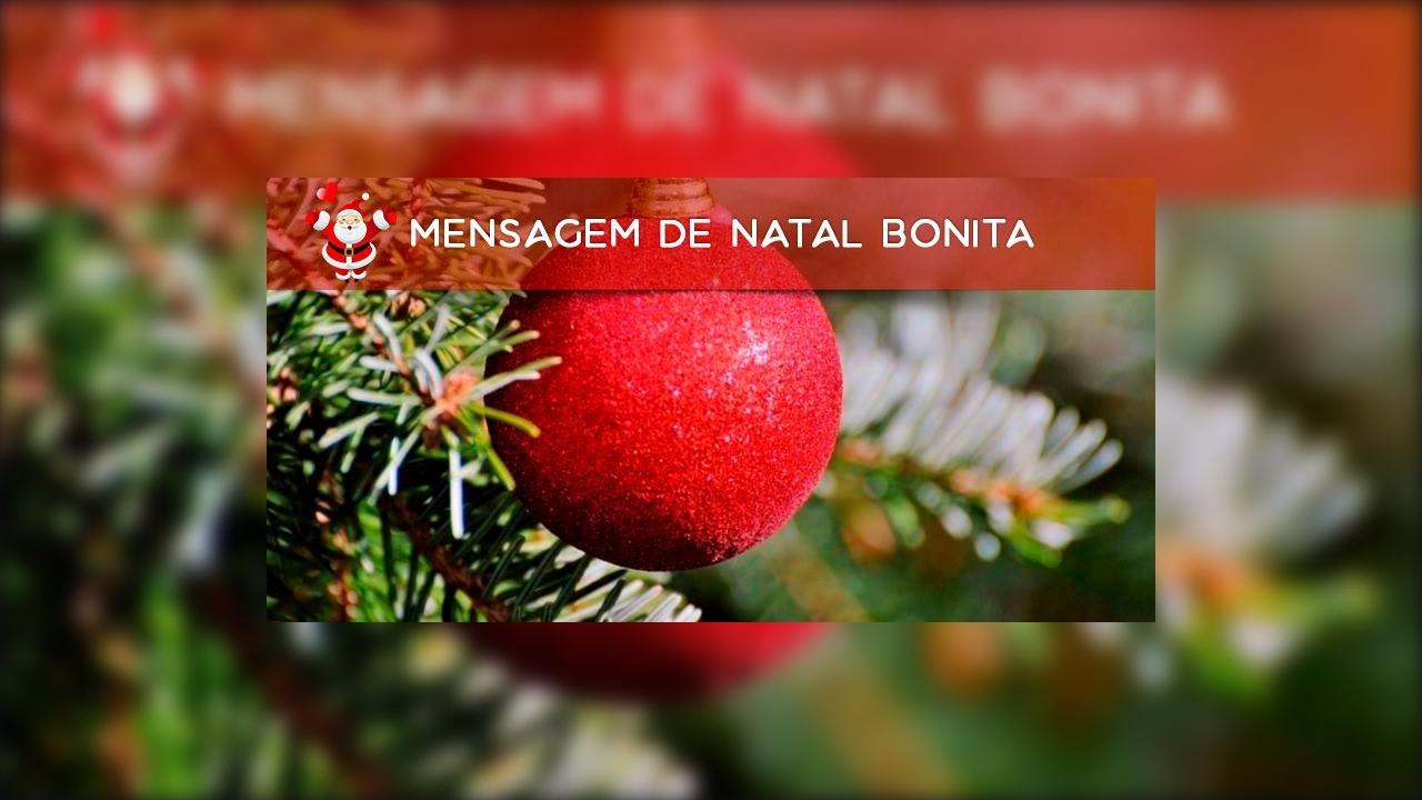 Mensagem de natal bonita para amigo ou amiga especial