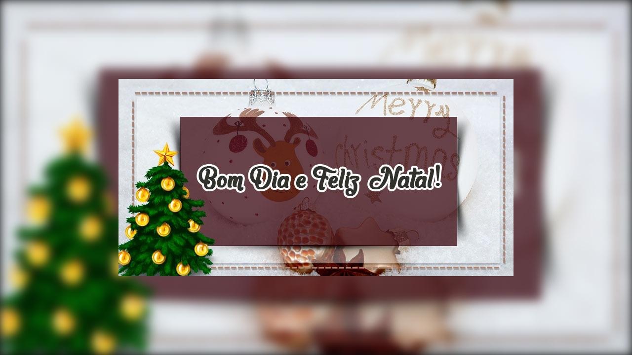 Mensagem de natal de bom dia