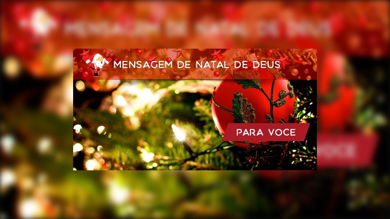 Mensagem de Natal de Deus.