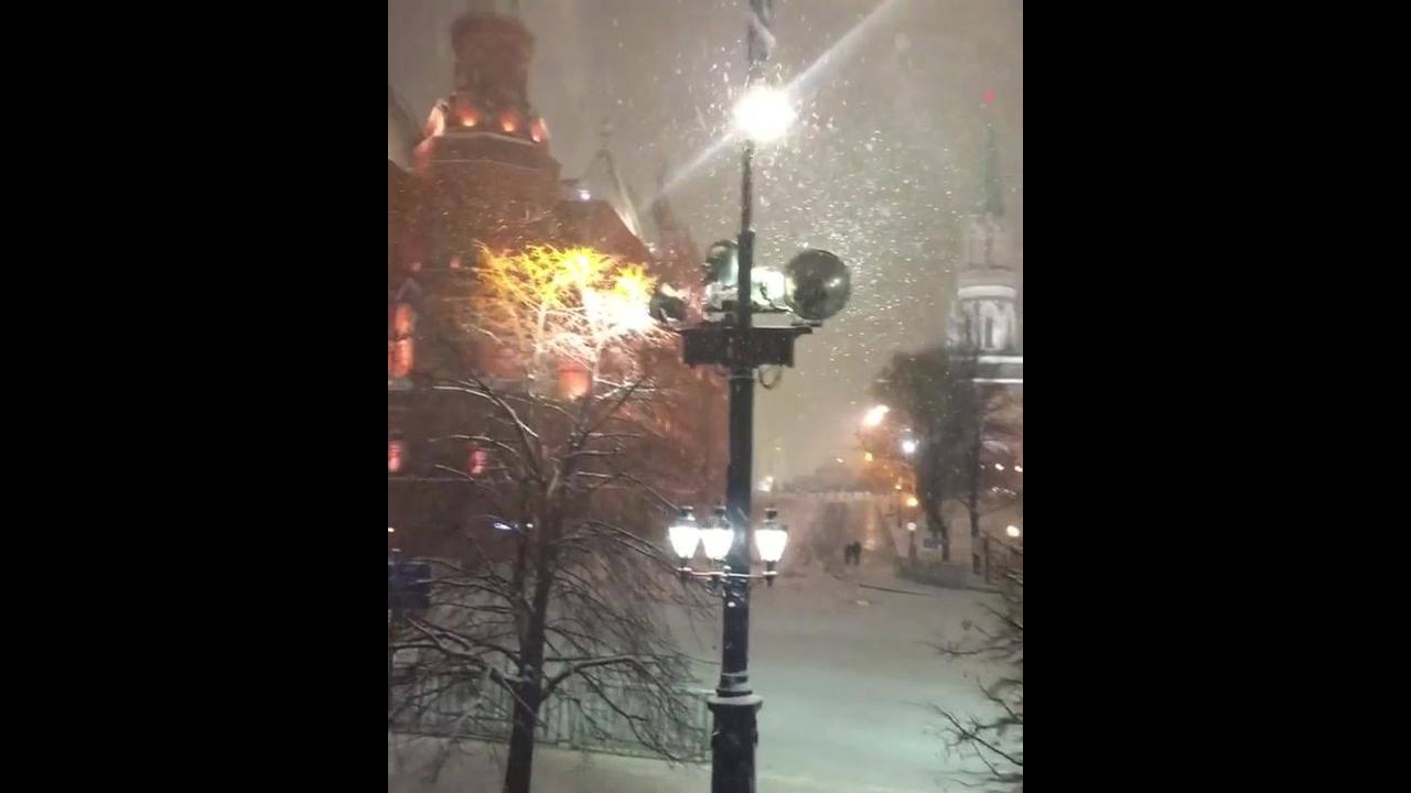 Neve dando o sinal que o natal chegou
