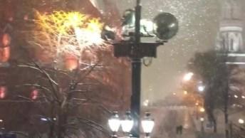 Neve Dando O Sinal Que O Natal Chegou, Que Delicia Esse Frio!