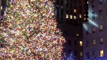 O Momento Exato Em Que Uma Árvore De Natal Foi Acesa Em Uma Cidade!