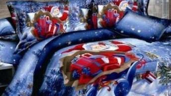 O Natal Chegou! Aproveitando O Clima Natalino Veja Estas Colchas De Natal!