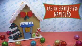 Porta-Guardanapos De Natal, Decore Sua Mesa Com Esse Lindo Artesanato!