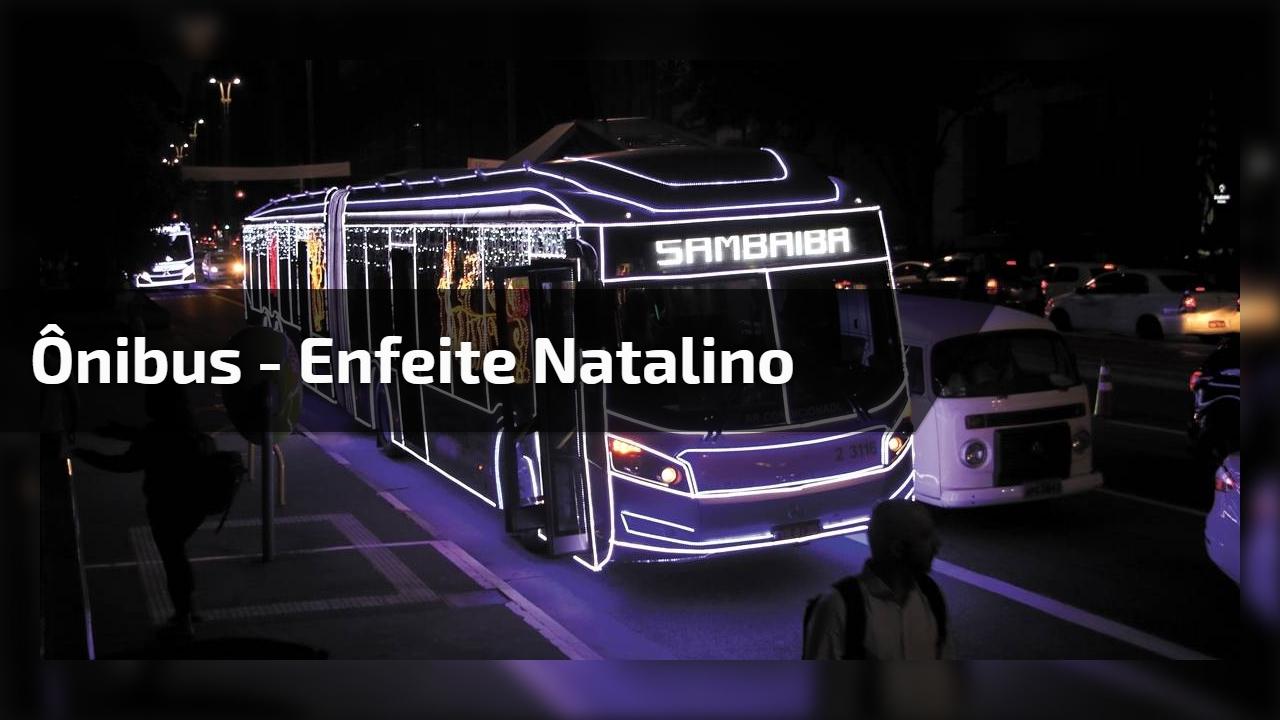 Ônibus - Enfeite natalino