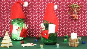 Reaproveitando Garrafas De Suco Para Fazer Enfeites De Natal!