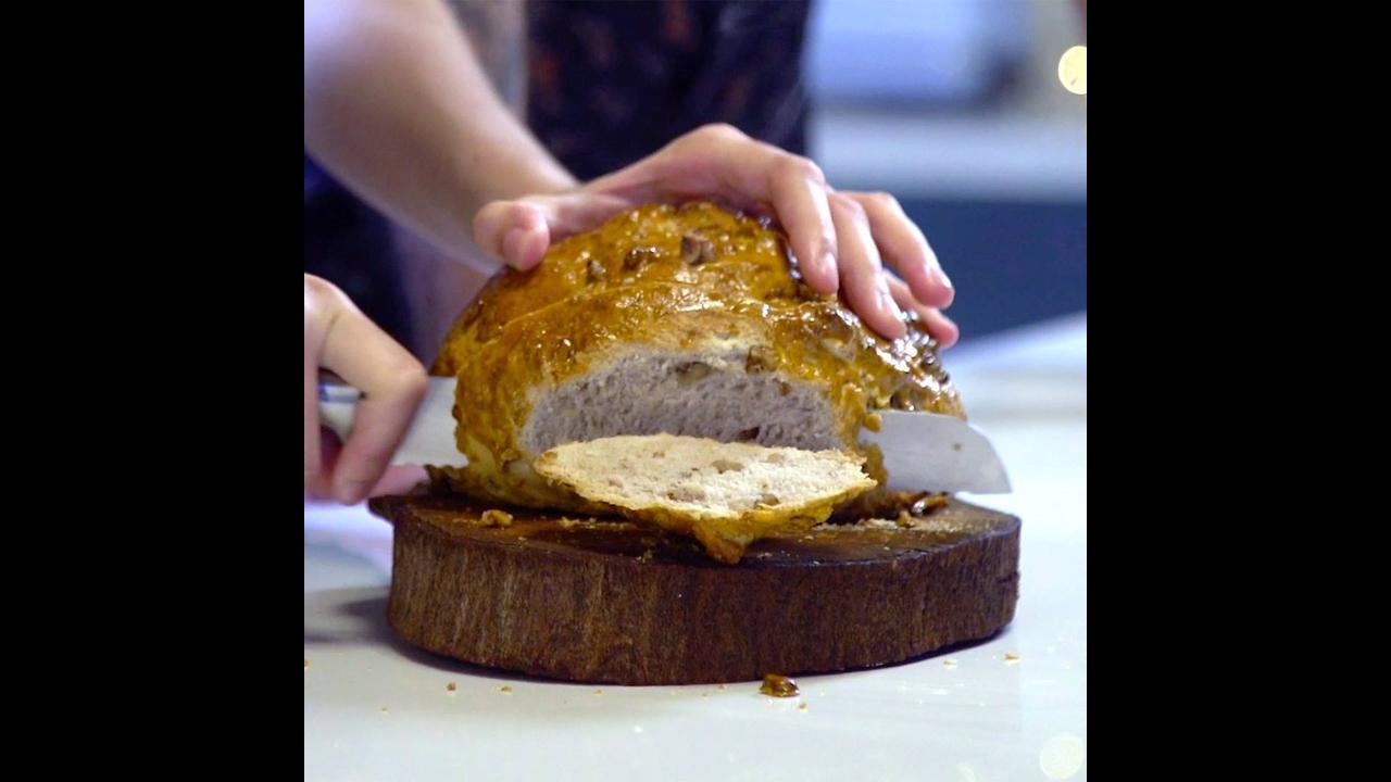 Receita de Natal, Pão de Nozes, para seu café da manhã natalino!