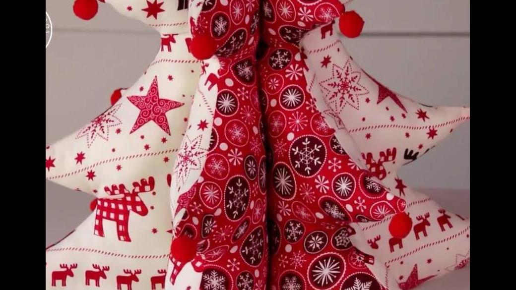 Tutorial de arvore de Natal de tecido