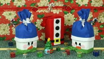 Tutorial De Boneco De Neve E Sacolinha De Papai Noel Com Objetos Recicláveis!