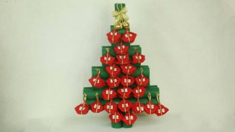 Tutorial De Calendário Para O Natal, Feito Com Rolinhos De Papel Alumínio!