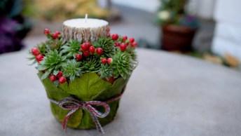 Tutorial De Como Transformar Um Vasinho De Planta Em Porta Velas Para O Natal!