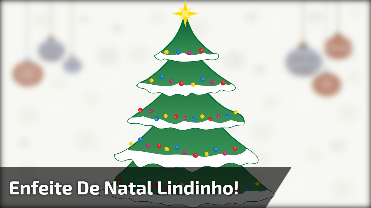 Enfeite de Natal lindinho!