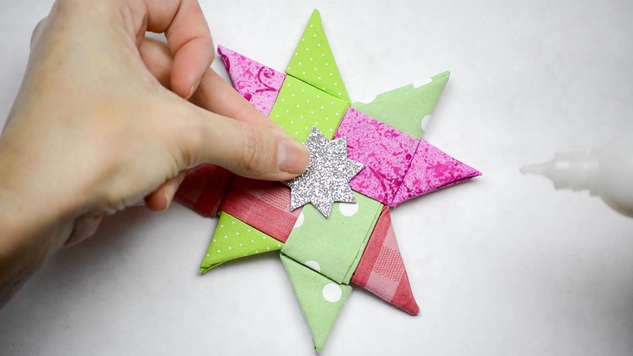 Tutorial de estrela de tecido para decorar sua arvore de Natal