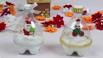 Tutorial De Globo De Neve De Garrafa Pet, Uma Ótima Lembrancinha De Natal!