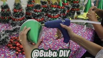 Tutorial De Mini Árvore De Natal Super Fácil De Fazer, Olha Só Que Lindinha!