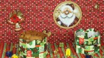 Tutorial De Porta Panetone Feito Com Caixinha De Leite, Perfeito Para O Natal!
