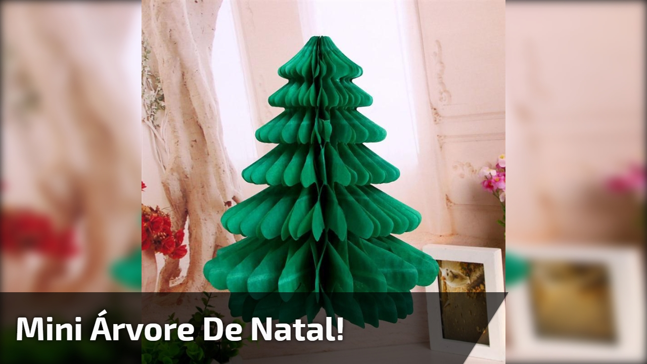 Mini árvore de Natal!